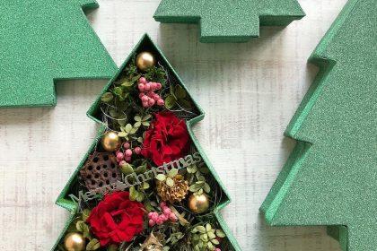 クリスマスツリー ボックス プリザーブドフラワー プレゼント ギフト 贈り物 クリスマス 雑貨