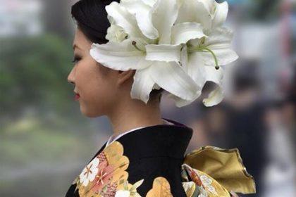 成人式 アーティフィシャルフラワー 髪飾