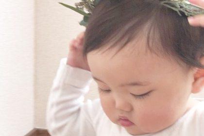記念日 誕生日 フォトスタジオ 撮影 花冠 赤ちゃん ベビ バースデーパーティー
