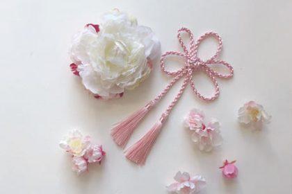 卒業式 春 和装 桜 ヘアパーツ ヘアスタイル アーティフィシャルフラワー ヘアクリップ タッセル
