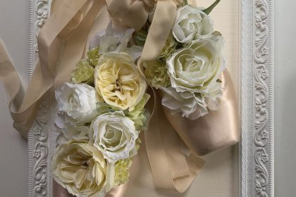 ポアントフラワー 花嫁 トウシューズ ウエディングドレス 婚礼 ウエルカムスペース ドレス