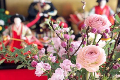 春 アレンジメント ワークショップ レッスン フラワーアレンジメント 桃の節句 ひな祭り