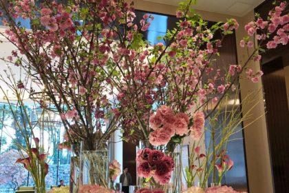 パレスホテル東京 ロビー 桜 東京文化会館 上野の森バレエホリディ ワークショップ 白鳥の湖 花かんむり