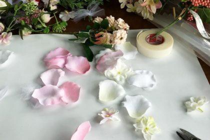 軽井沢 資材 花材 花かんむり クロネコ 移動花屋 平成