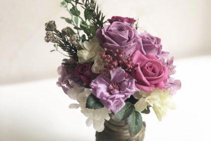 花器 プリザーブドフラワー ドライフラワー アレンジ 梅雨 仏壇 生花 お供え