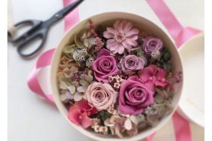 ピンク フラワーボックス プリザーブドフラワー 贈り物 お中元 お祝い 夏 おすすめ