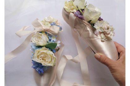 思い出 トウシューズ バレエ 発表会 ポアントフラワー プレゼント コンクール フロリナ 衣装