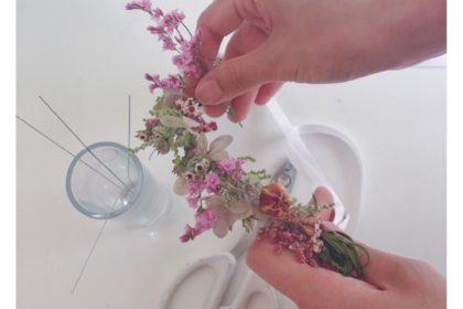 ベビー 花かんむり 赤ちゃん 誕生 成長 お祝い 思い出 写真撮影 フラワーアレンジメント ニューボーンフォト