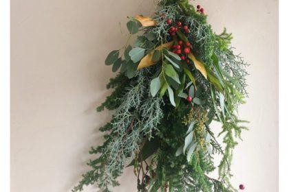 クリスマス スワッグ ワークショップ レッスン リース フレッシュグリーン