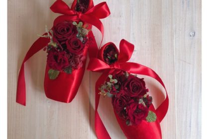 ポアント アーティフィシャルフラワー プリザーブドフラワー還暦 お祝い コンクール 衣装 フロリナ王女 バレエ